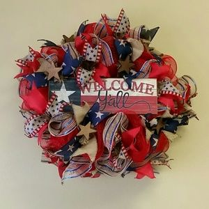 Wreath patriotic theme